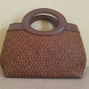 Fossil/ small brown bag with round handles